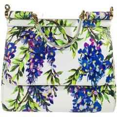 Dolce & Gabbana Small Floral Print Top Handle Bag