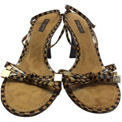 Louis Vuitton Brown and Tan Strappy Sandal