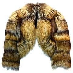 Emilio Pucci Runway Cropped Fox Fur Jacket