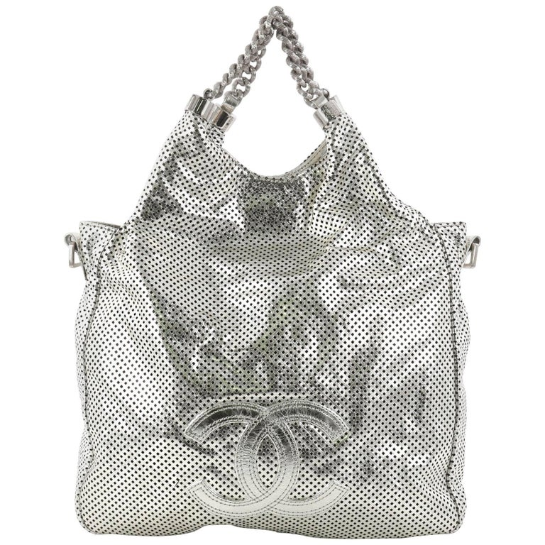 4e9bcf0cd9b2 Chanel Rodeo Drive Perforated Leather Small Hobo Bag at 1stdibs