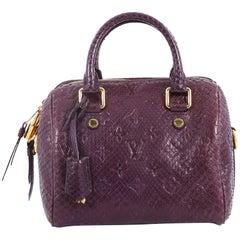 Louis Vuitton Speedy Bandouliere Bag Monogram Embossed Python 20