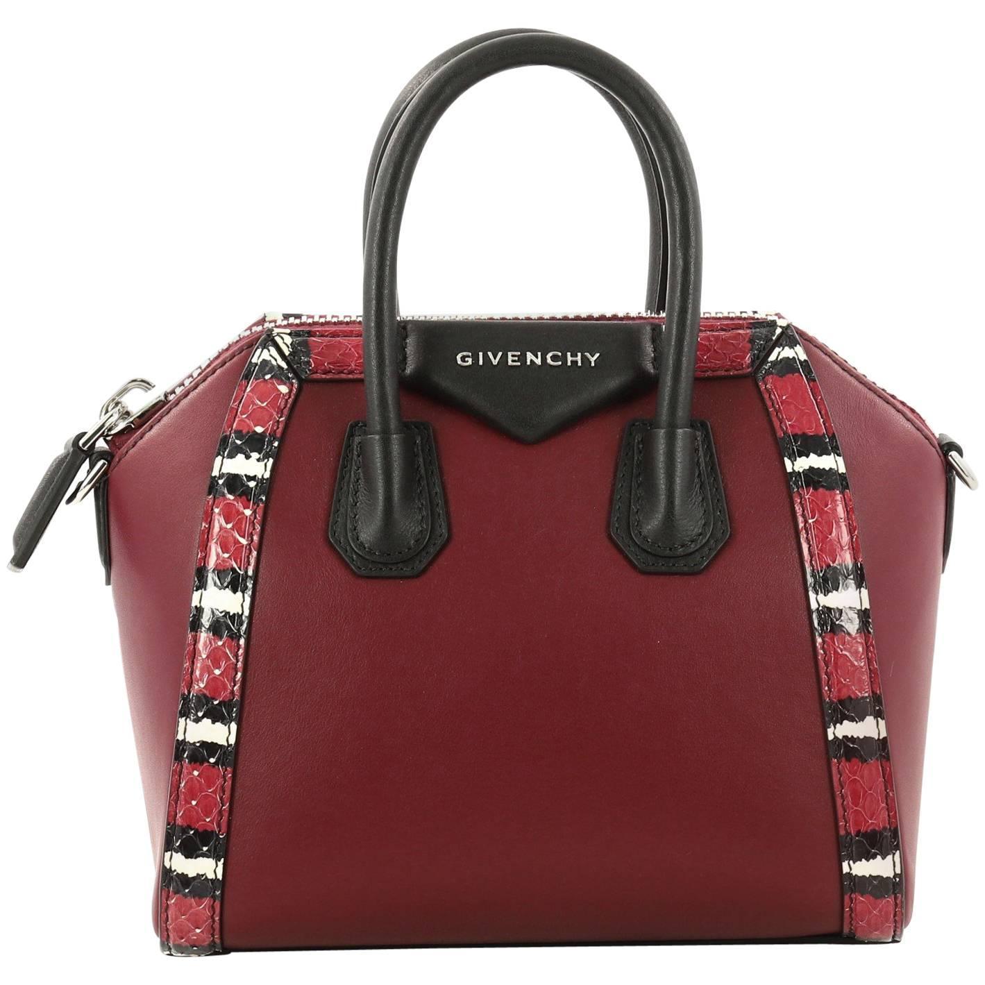 Givenchy Antigona Bag Leather With Snakeskin Mini From 2017 1t6Ylb