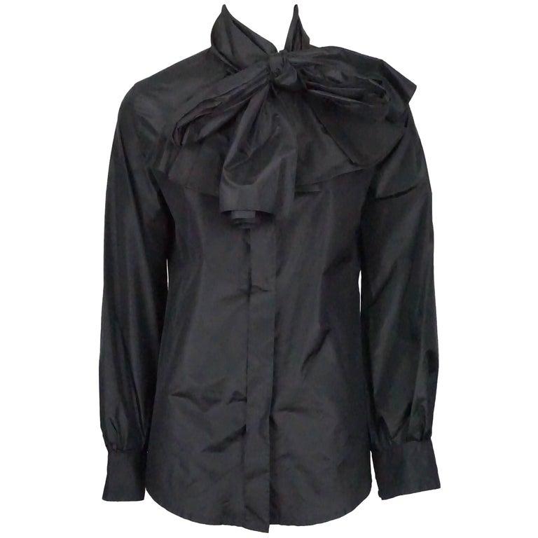 db4986070db YSL Black Silk Taffeta Top For Sale at 1stdibs