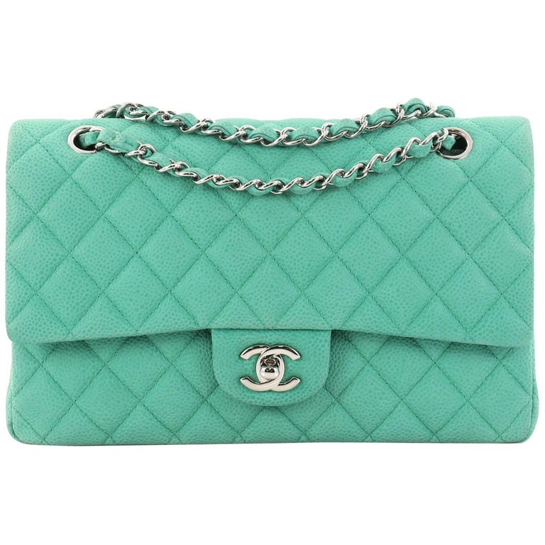 a24abb458e1d Chanel Classic Double Flap Bag Quilted Matte Caviar Medium at 1stdibs