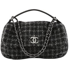 Chanel CC Flap Satchel Quilted Tweed Medium