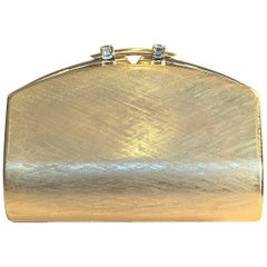 Rodo Gold Metal Evening Clutch
