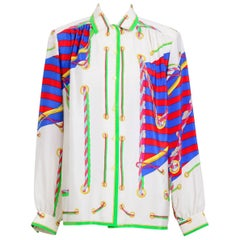 Leonard 1980s signed silk blouse