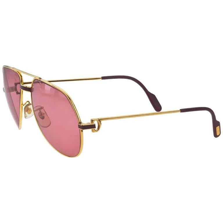 61250c891eaf8 Vintage Cartier RED Laque De Chine Sunglasses For Sale at 1stdibs