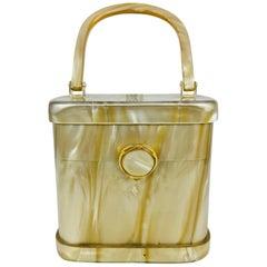 Stylecraft Miami pearlized Lucite handbag 1960s