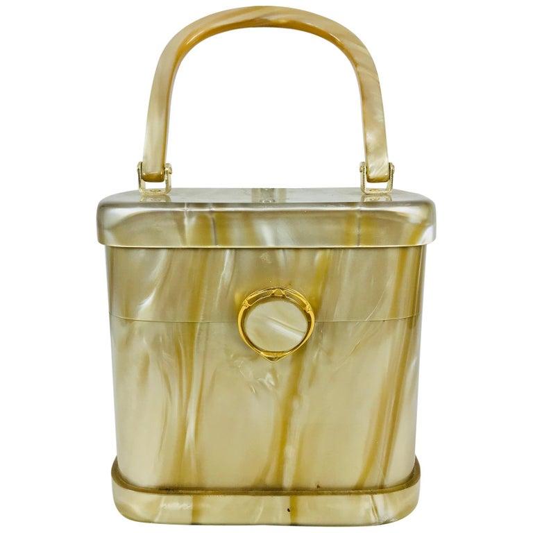 Stylecraft Miami pearlized Lucite handbag 1960s For Sale