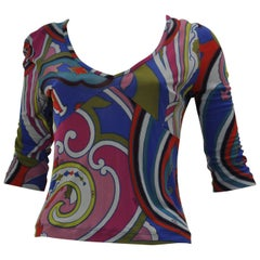 Etro Abstract Printed Top