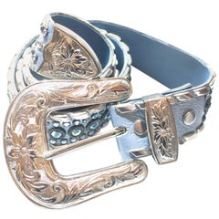 "Kippys Swarovski Crystal Blue Belt 34"" (Also in White and Pin k)"