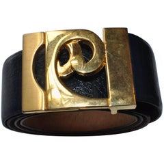 """Pierre Cardin Blue Pebbled Leather Belt 32"""""""