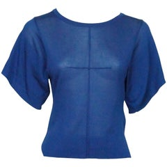 Emilio Pucci Royal Blue Silk Knit Top - XS - NWT