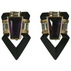Angela Kramer Enamel Earrings