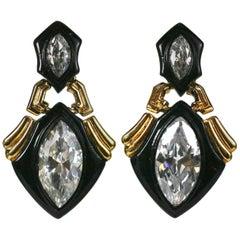 Angela Kramer Marquise Crystal Earrings