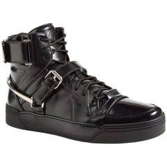 New Gucci Men's Black Basket Darko High-Top Sneaker Gucci sizes 8.5 9 9.5 11.5