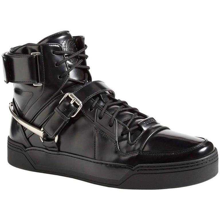 New Gucci Men's Black Basket Darko High-Top Sneaker Gucci s 8.5 9 9.5 10 11.5