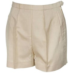 Ivory Vintage Emilio Pucci Silk Shorts