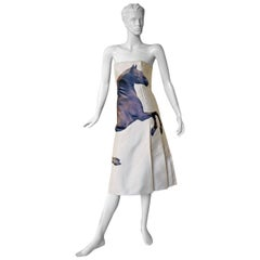 Chloe by Stella McCartney Horse Graphic Stubbs and Gericault Design Dress, 2001