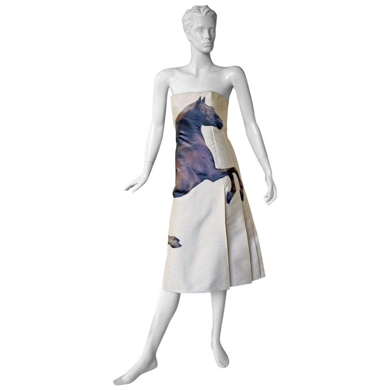 Chloe by Stella McCartney Horse Graphic Stubbs and Gericault Design Dress, 2001  For Sale