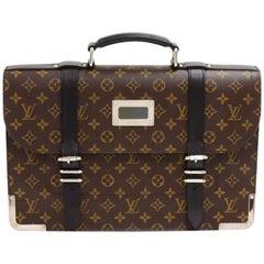 Louis Vuitton Larry Monogram Macassar Canvas Briefcase