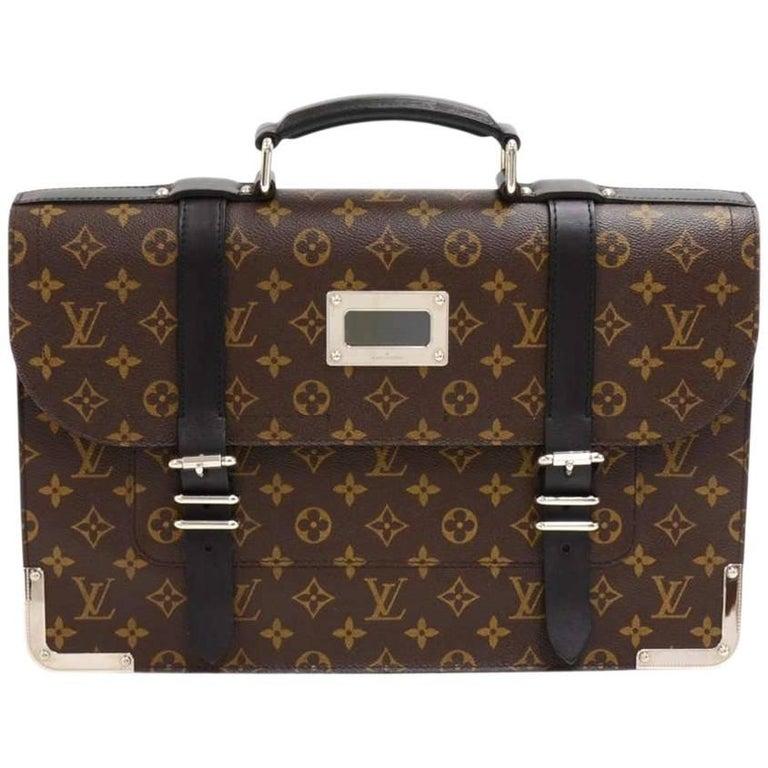 Louis Vuitton Larry Monogram Macassar Canvas Briefcase