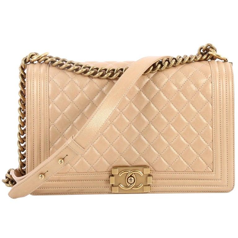Chanel Boy Flap Bag Quilted Calfskin New Medium