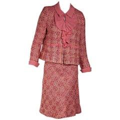 Multicolor Chanel Tweed Skirt Set