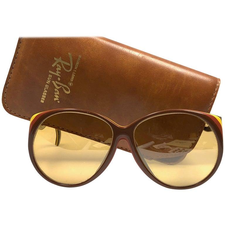 New Vintage Ray Ban B&L Christie Ambermatic Lenses 1970's Sunglasses USA