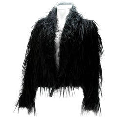 Issey Miyake Vintage Black Mohair and Ribbon Cardigan