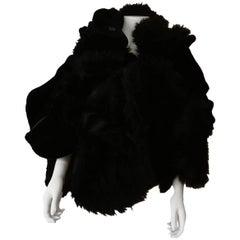 Collectible Piéce Junya Watanabe Comme des Garçons Fake Fur Cape Boléro M Size
