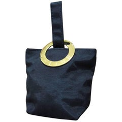 """Celine Black Gold Toned """"Celine"""" Hardware Coins Bag."""