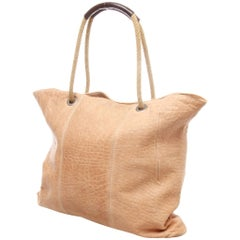 MARNI Beige Leather Shopping Tote