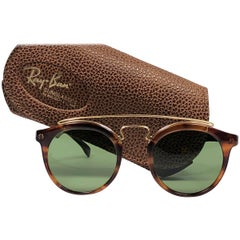New Vintage Ray Ban Gatsby RB3 Green Lenses 1980's B&L Sunglasses