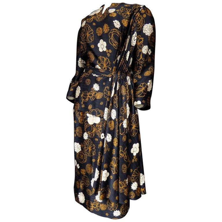 Madame Grès Haute Couture Dress, circa 1980 For Sale