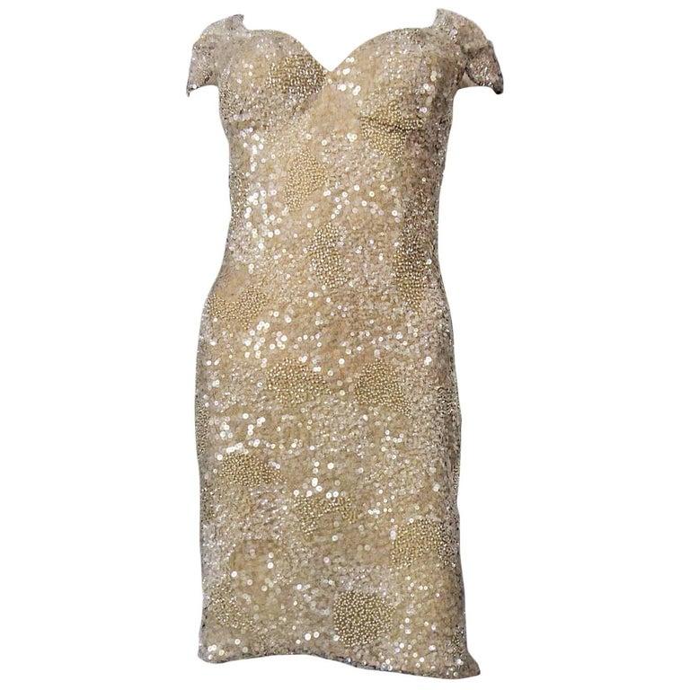 Christian Dior John Galliano Couture sequin Dress - Circa 2000