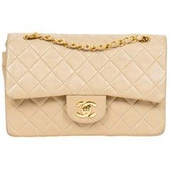 Chanel Beige Leather Double Flap Shoulder bag