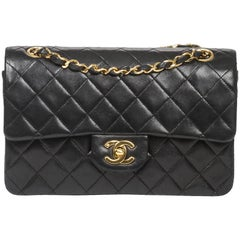 Shoulder bag Chanel Classic Double Flap in black leather