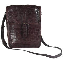 Prada Maroon Crocodile CrossBody Bag