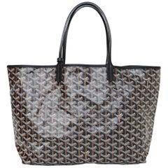 Goyard Black Chevron St Louis PM Tote Bag with Dust Bag