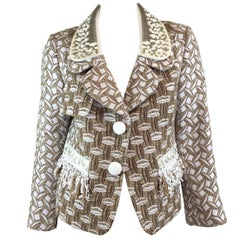 Louis Vuitton Resort 2013 Tweed Jacket with Sequin and Fringe Detail