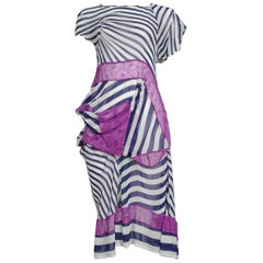 Junya Watanabe Stripe & Purple Lace Dress 2011