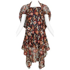 Junya Watanabe Floral Embroidered Dress 2011