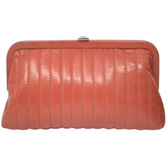 Chanel Red/Pink Small Clutch Handbag