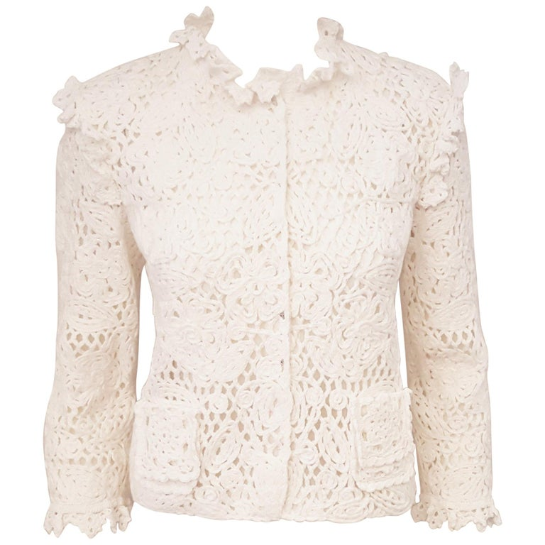 Dolce And Gabbana 2011 Special Edition White Cotton Crochet Cropped