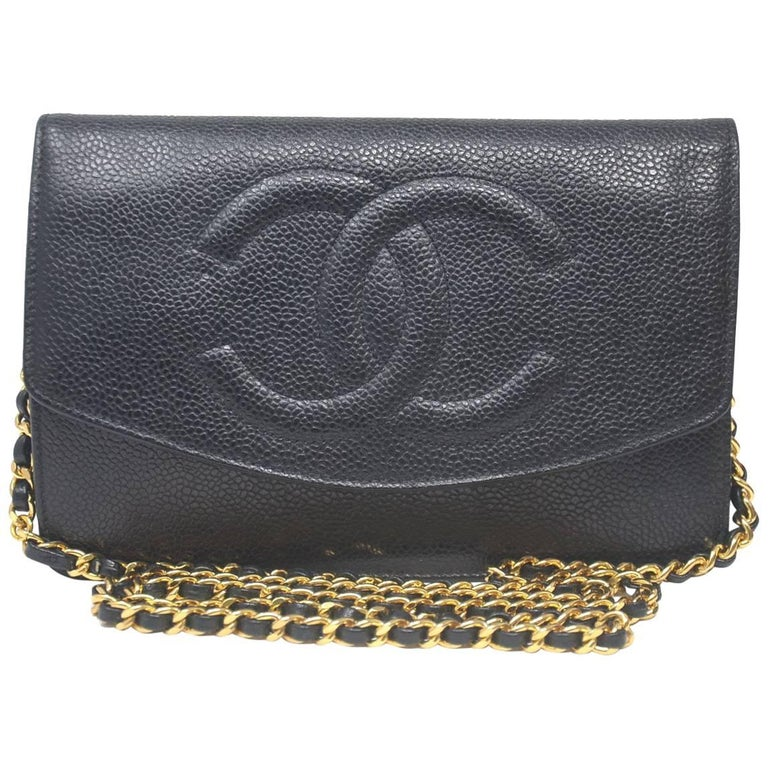 Chanel WOC Black Caviar CC Gold Hardware With Card