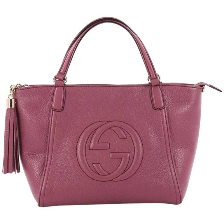 Gucci Soho Convertible Top Handle Bag Leather Medium