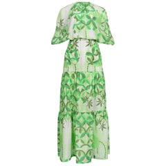Walter Van Beirendonck Vintage Green Silk Abstract Ensemble
