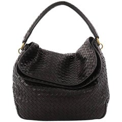 Bottega Veneta Fold Over Hobo Intrecciato Nappa Medium